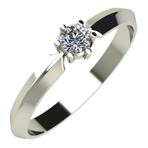 Годежен Пръстен бяло злато с диамант Impulse 0,12 ct. 238