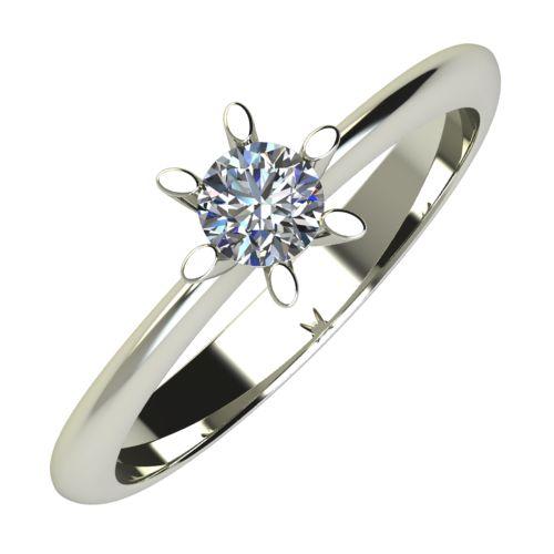 Годежен Пръстен бяло злато с диамант Star 0,17 ct. 632