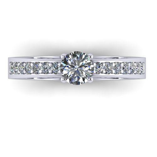 Годежен Пръстен бяло злато с диамант Varie 0,42 ct. 1001 A