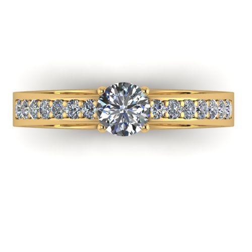 Годежен Пръстен жълто злато с диамант Varie 0,42 ct. 2001 a