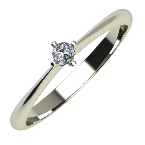 Годежен Пръстен бяло злато с диамант Cante 0,04 ct. 642