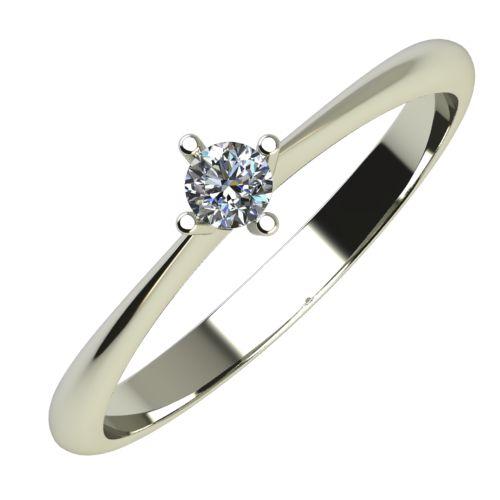 Годежен Пръстен бяло злато с диамант Cante 0,07 ct. 643
