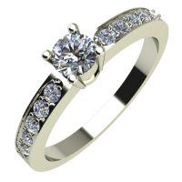 Годежен Пръстен бяло злато с диамант Decor 0,23 ct. 541