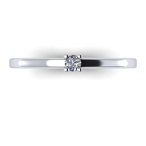 Годежен Пръстен бяло злато с диамант Fill 0,04 ct. 2002 A