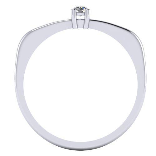 Годежен Пръстен бяло злато с диамант Fill 0,04 ct. 2002 B