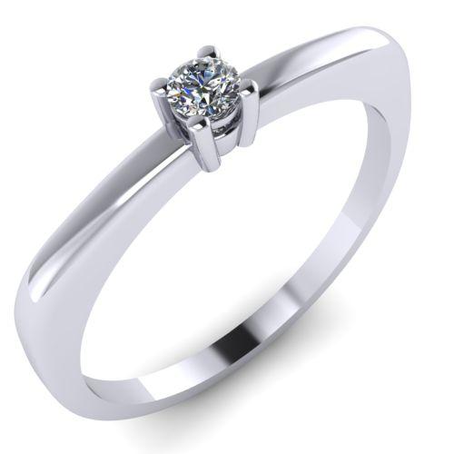 Годежен Пръстен бяло злато с диамант Fill 0,04 ct. 2002