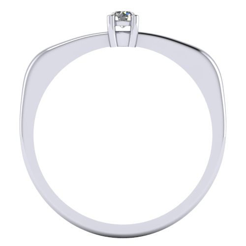 Годежен Пръстен бяло злато с диамант Fill 0,07 ct. 2003 B