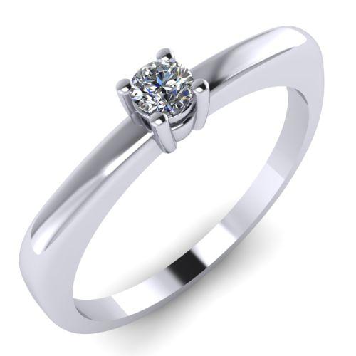 Годежен Пръстен бяло злато с диамант Fill 0,07 ct. 2003