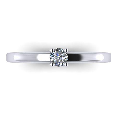 Годежен Пръстен бяло злато с диамант Fill 0,12 ct. 2004 A