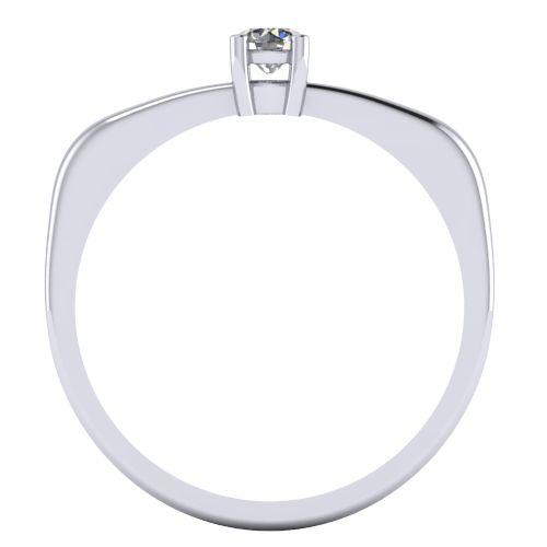 Годежен Пръстен бяло злато с диамант Fill 0,12 ct. 2004 B