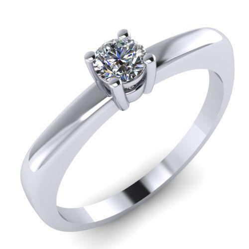 Годежен Пръстен бяло злато с диамант Fill 0,12 ct. 2004