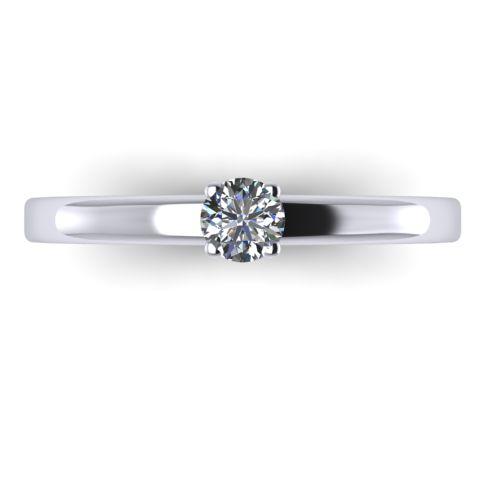 Годежен Пръстен бяло злато с диамант Fill 0,17 ct. 2005 A