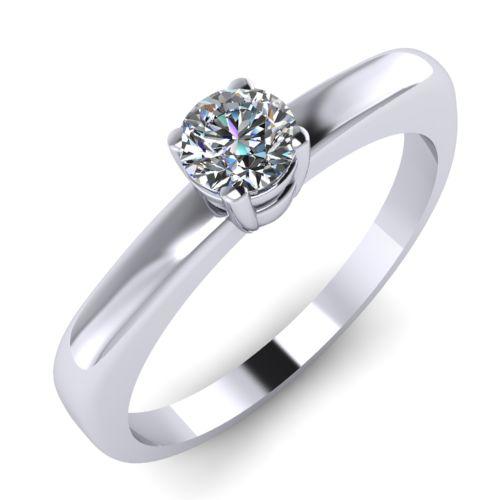 Годежен Пръстен бяло злато с диамант Fill 0,17 ct. 2005