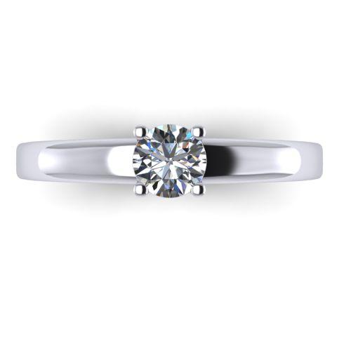 Годежен Пръстен бяло злато с диамант Fill 0,25 ct. 2006 A