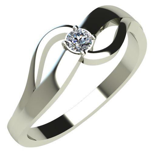 Годежен Пръстен бяло злато с диамант Forth 0,07 ct. 249