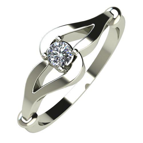 Годежен Пръстен бяло злато с диамант Forth 0,07 ct. 352