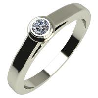 Годежен Пръстен бяло злато с диамант Moon 0,04 ct. 530