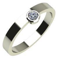 Годежен Пръстен бяло злато с диамант Moon 0,07 ct. 276