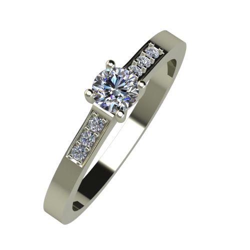 Годежен Пръстен бяло злато с диамант Prest 0,23 ct. 950