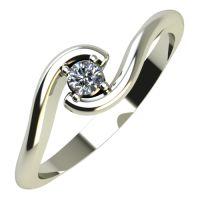 Годежен Пръстен бяло злато с диамант Unity 0,07 ct. 448