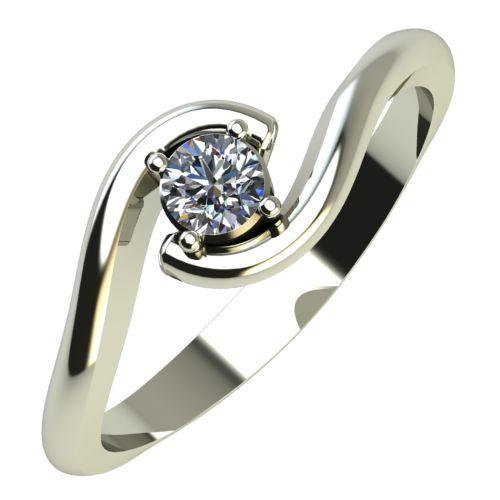 Годежен Пръстен бяло злато с диамант Unity 0,12 ct. 449