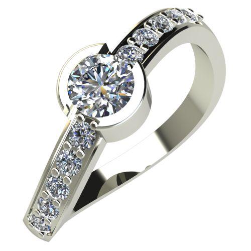 Годежен Пръстен бяло злато с диамант Vision 0,28 ct. 549