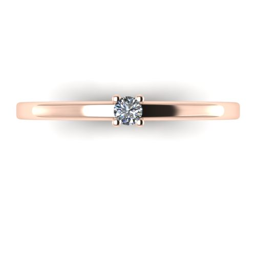 Годежен Пръстен розово злато с диамант Fill 0,04 ct. 2009 a