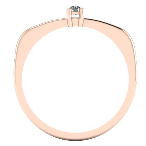 Годежен Пръстен розово злато с диамант Fill 0,04 ct. 2009 b