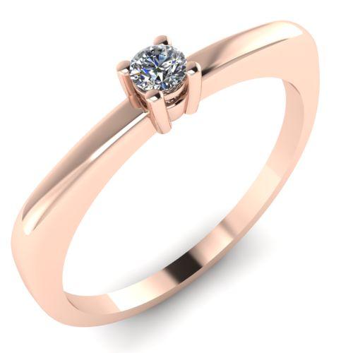 Годежен Пръстен розово злато с диамант Fill 0,04 ct. 2009