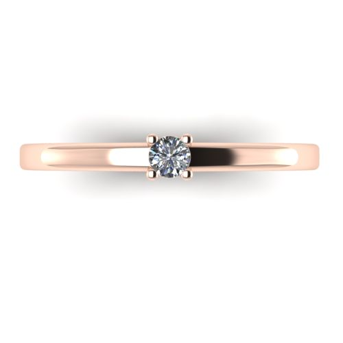 Годежен Пръстен розово злато с диамант Fill 0,07 ct. 2011 a