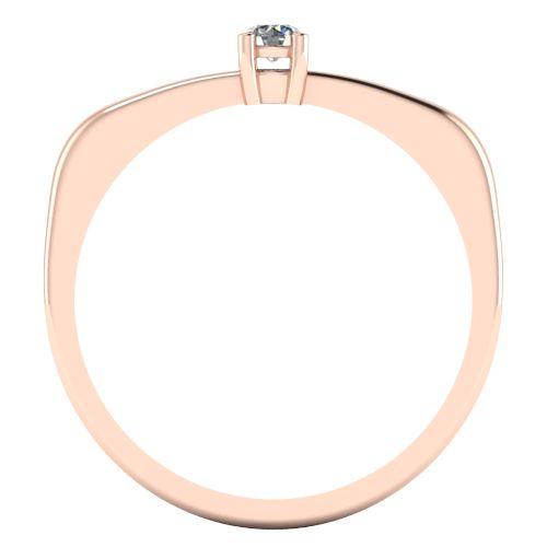 Годежен Пръстен розово злато с диамант Fill 0,07 ct. 2011 b