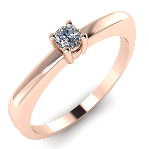 Годежен Пръстен розово злато с диамант Fill 0,07 ct. 2011
