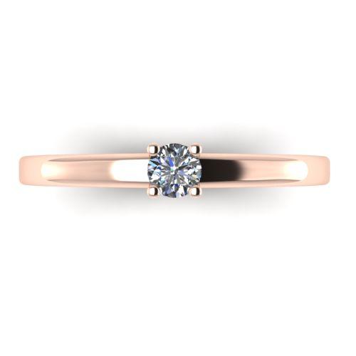 Годежен Пръстен розово злато с диамант Fill 0,12 ct. 2012 a