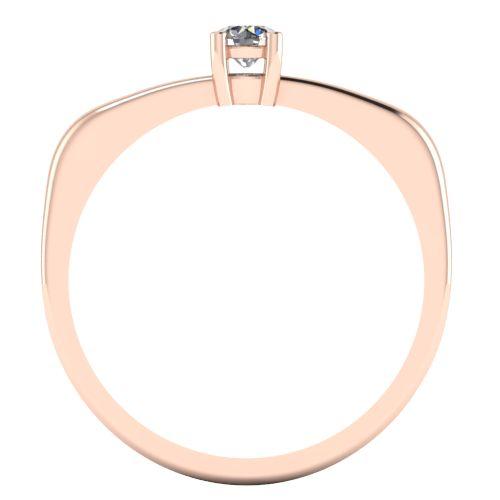 Годежен Пръстен розово злато с диамант Fill 0,12 ct. 2012 b