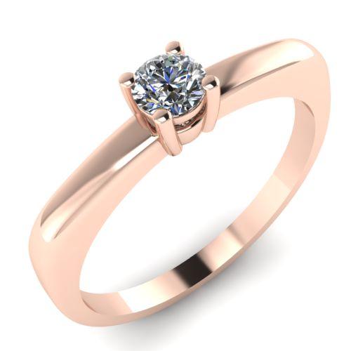 Годежен Пръстен розово злато с диамант Fill 0,12 ct. 2012
