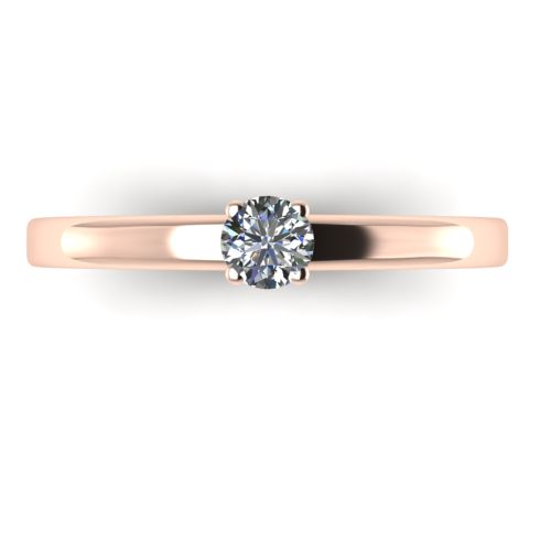 Годежен Пръстен розово злато с диамант Fill 0,17 ct. 2015 a