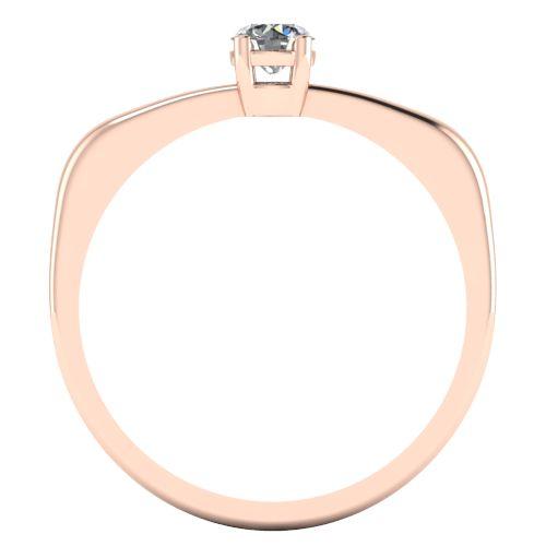 Годежен Пръстен розово злато с диамант Fill 0,17 ct. 2015 b
