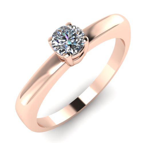 Годежен Пръстен розово злато с диамант Fill 0,17 ct. 2015