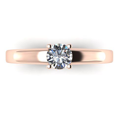 Годежен Пръстен розово злато с диамант Fill 0,25 ct. 2016 a