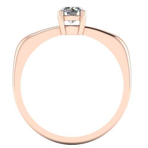 Годежен Пръстен розово злато с диамант Fill 0,25 ct. 2016 b