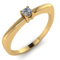 Годежен Пръстен жълто злато с диамант Fill 0,04 ct. 2008