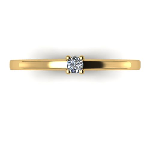 Годежен Пръстен жълто злато с диамант Fill 0,04 ct. 2008 a