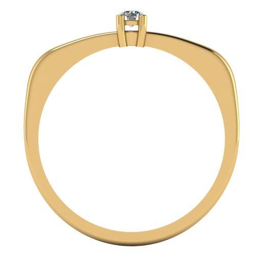 Годежен Пръстен жълто злато с диамант Fill 0,04 ct. 2008 b