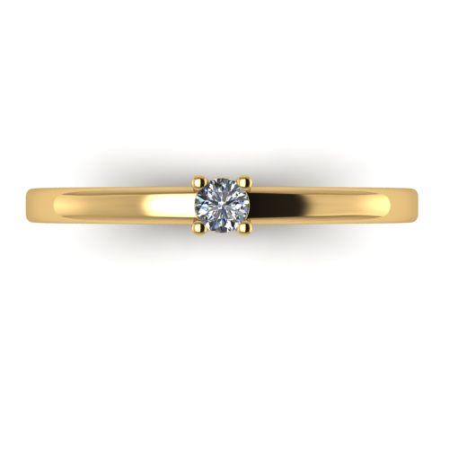Годежен Пръстен жълто злато с диамант Fill 0,07 ct. 2010 a