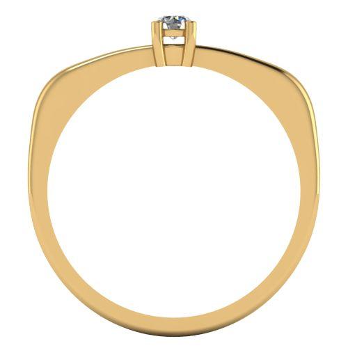 Годежен Пръстен жълто злато с диамант Fill 0,07 ct. 2010 b