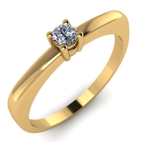 Годежен Пръстен жълто злато с диамант Fill 0,07 ct. 2010