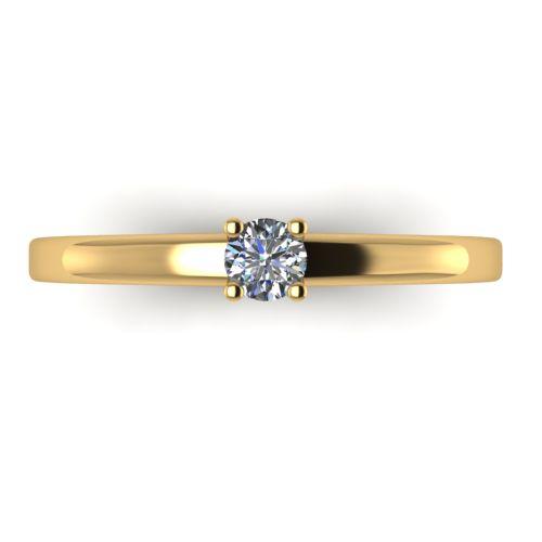 Годежен Пръстен жълто злато с диамант Fill 0,12 ct. 2013 a