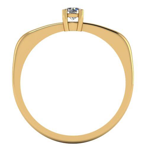Годежен Пръстен жълто злато с диамант Fill 0,12 ct. 2013 b