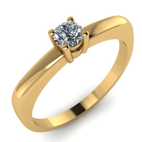 Годежен Пръстен жълто злато с диамант Fill 0,12 ct. 2013