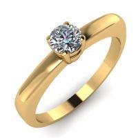 Годежен Пръстен жълто злато с диамант Fill 0,17 ct. 2014